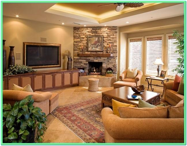 Decorating Living Room With Corner Fireplace