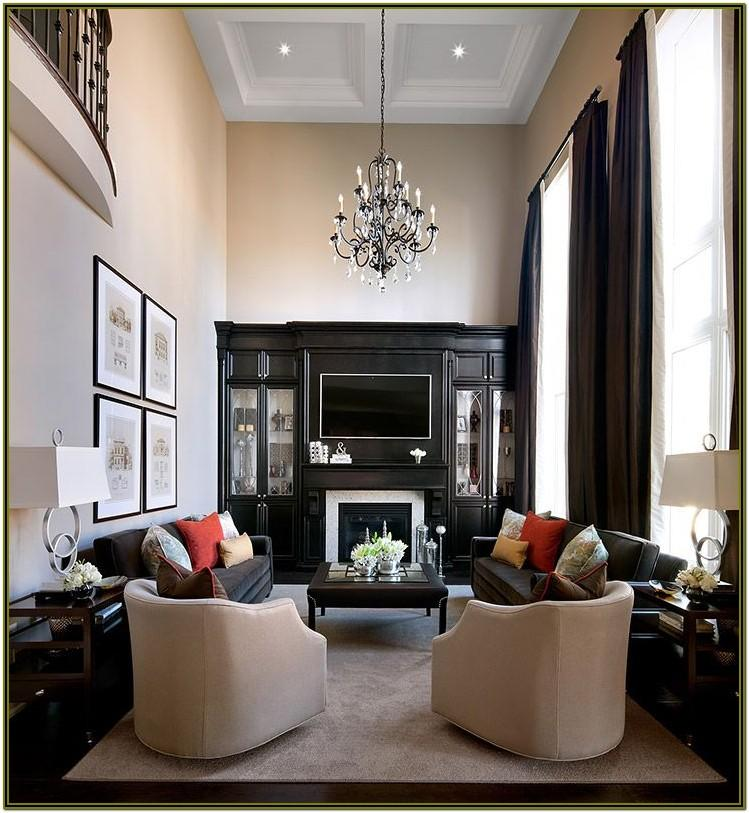 Decorating Narrow Living Room With Fireplace