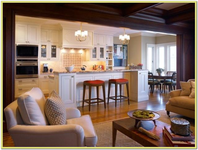 Decorating Small Open Concept Kitchen Living Room