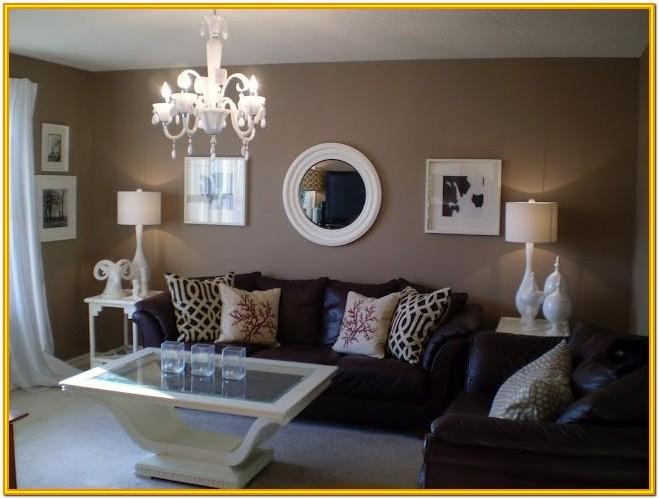 Decoration Ideas For Living Room With Brown Furniture