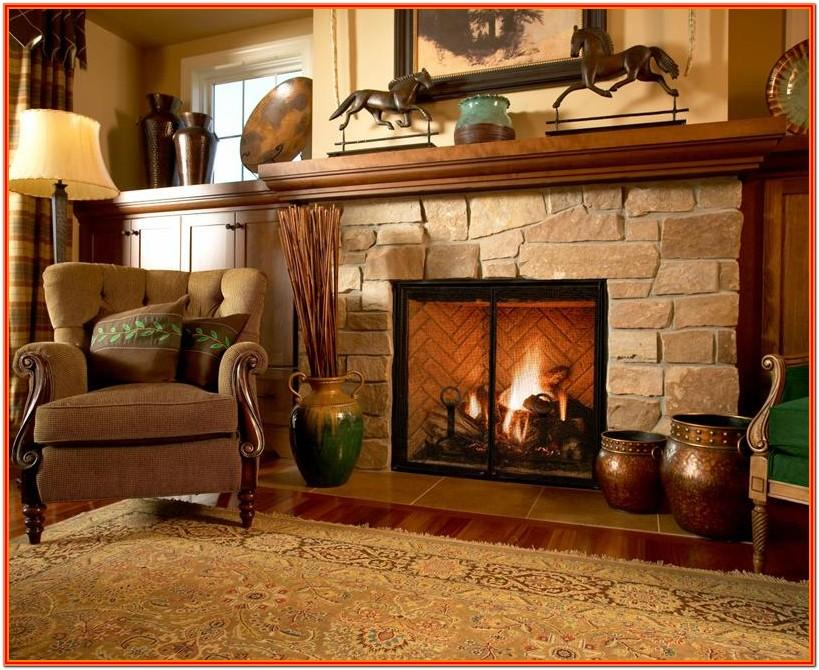 Design For Living Room With Fireplace