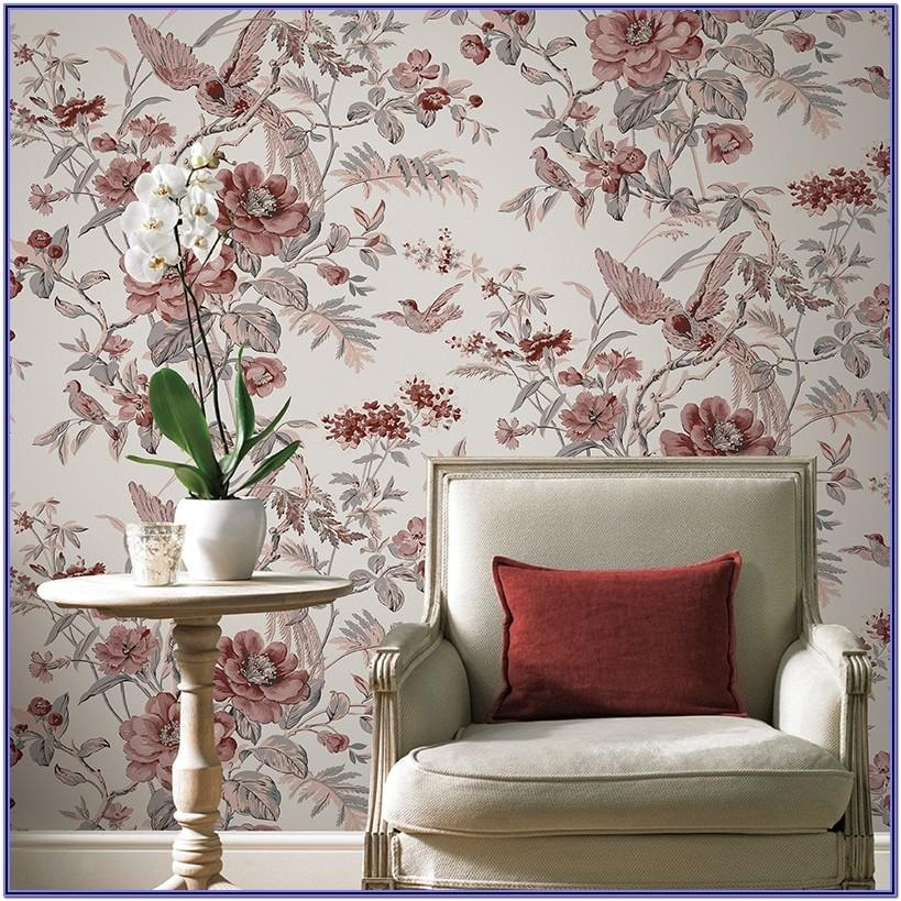 Floral Wallpaper Designs For Living Room