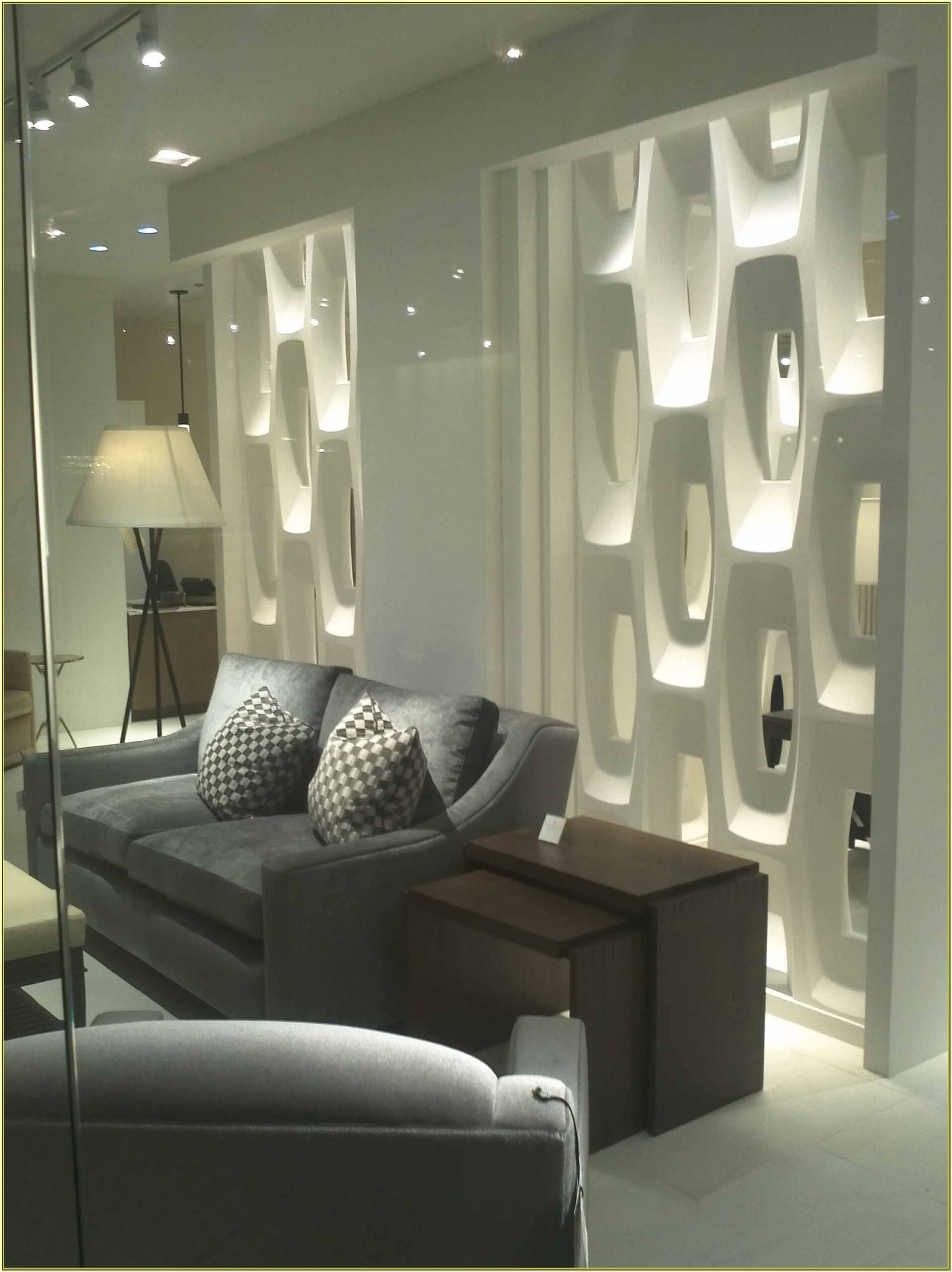 Glass Partition Designs For Living Room