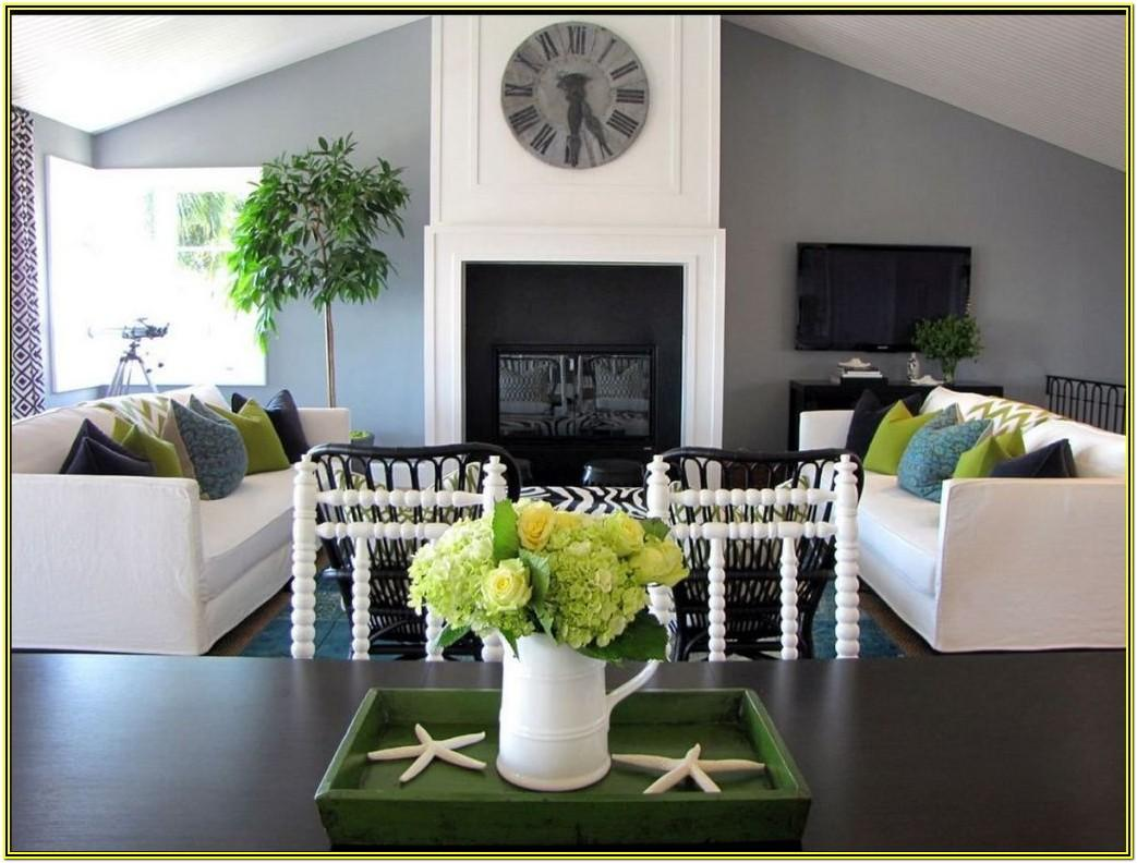 Gray And Green Living Room Decor