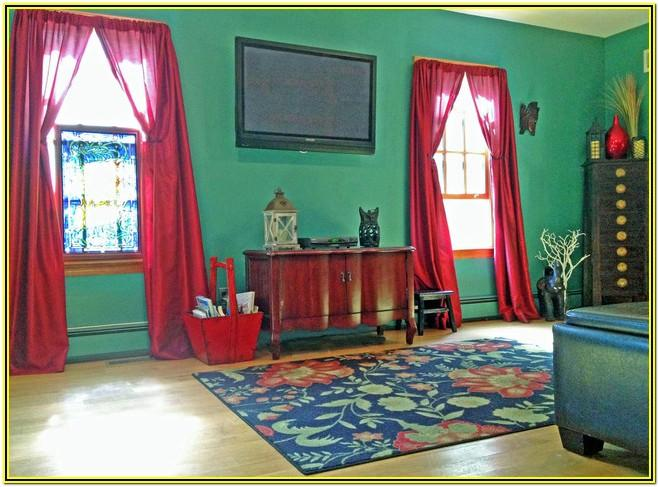 Green Walls Living Room Curtains