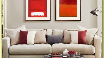 Grey And Red Living Room Decor