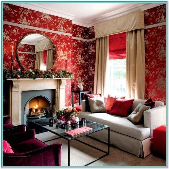 Ideas For Decorating Living Room Red
