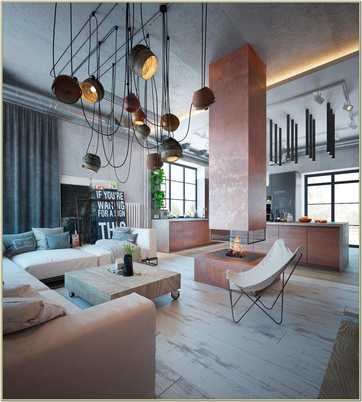 Industrial Decorating Living Room