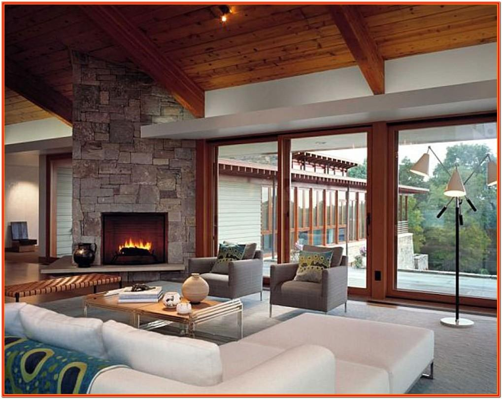 Interior Design For Living Room With Fireplace