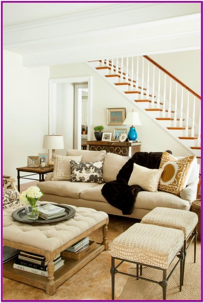 Living Room Bench Decorating Ideas