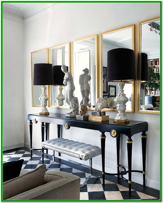 Living Room Black And Gold Home Decor