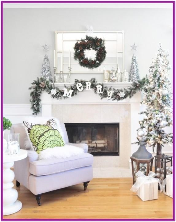 Living Room Black And White Christmas Decorating Ideas