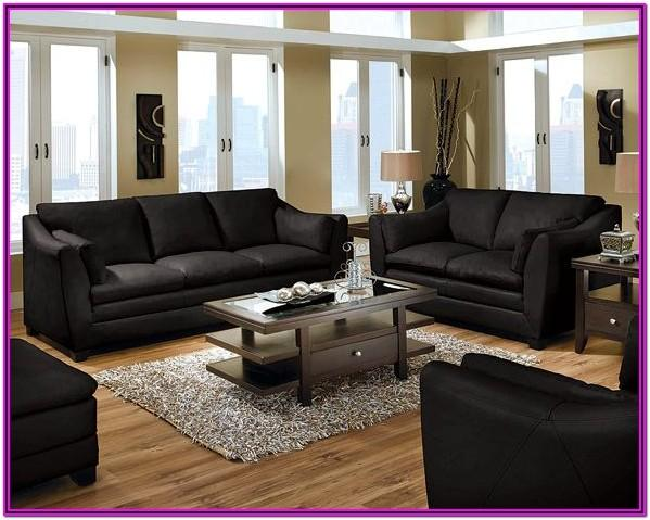 Living Room Black Furniture Idea Decor