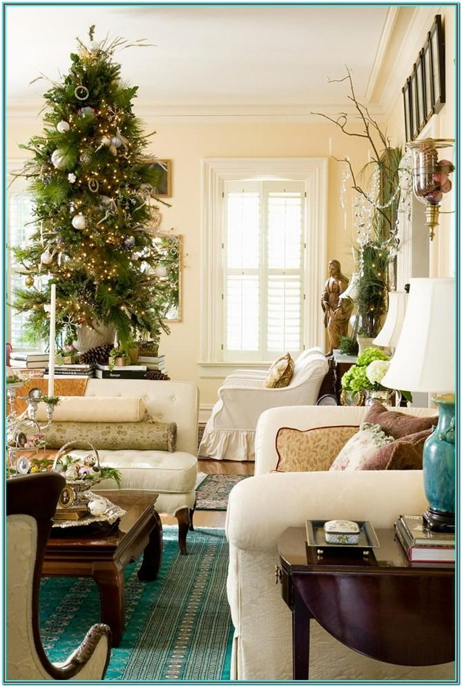 Living Room Christmas Home Decor Ideas