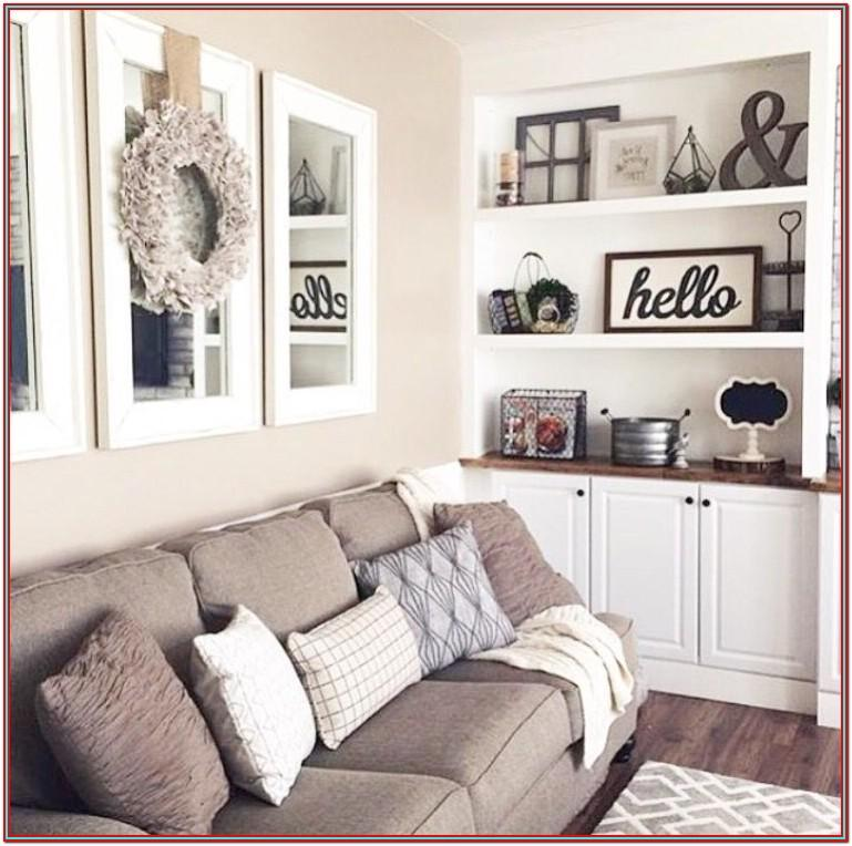 Living Room Decor Above Couch