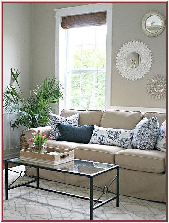 Living Room Decor Beige Sofa