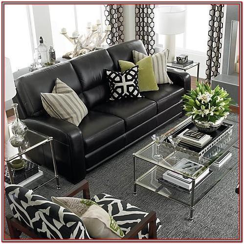 Living Room Decor Black Couch
