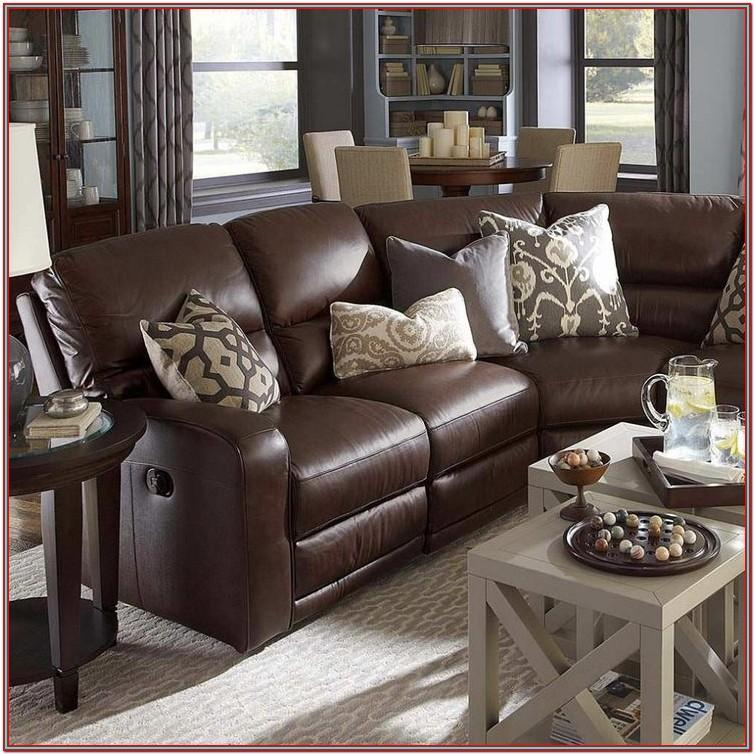 Living Room Decor Brown Leather Couch