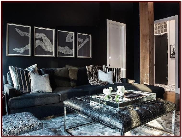 Living Room Decor Ideas With Black Sectional
