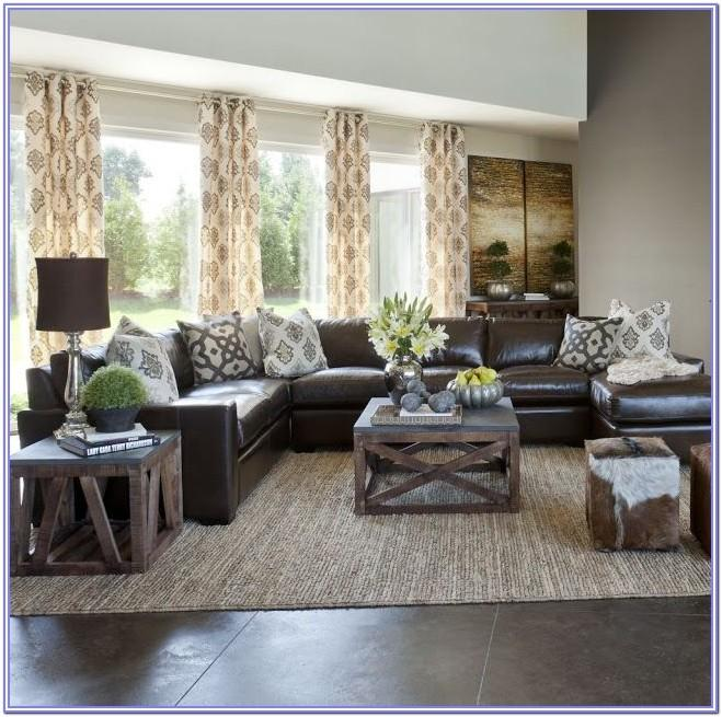 Living Room Decor Ideas With Leather Sectional