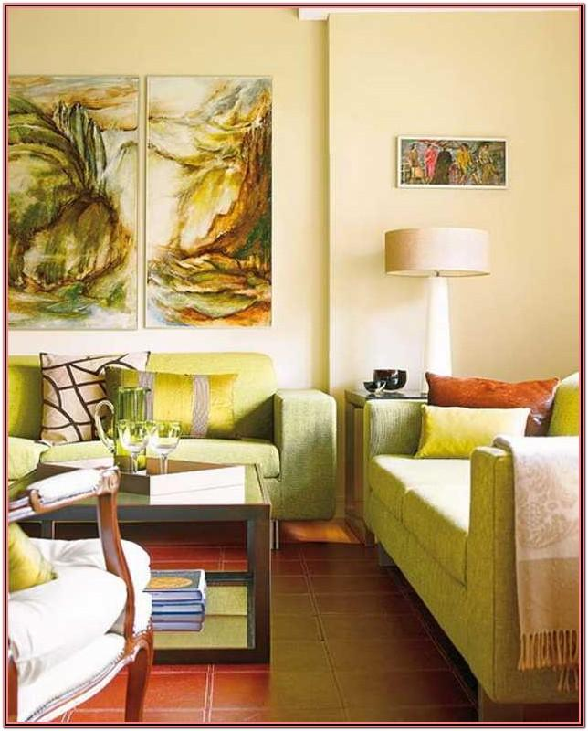 Living Room Decor Red Orange And Green
