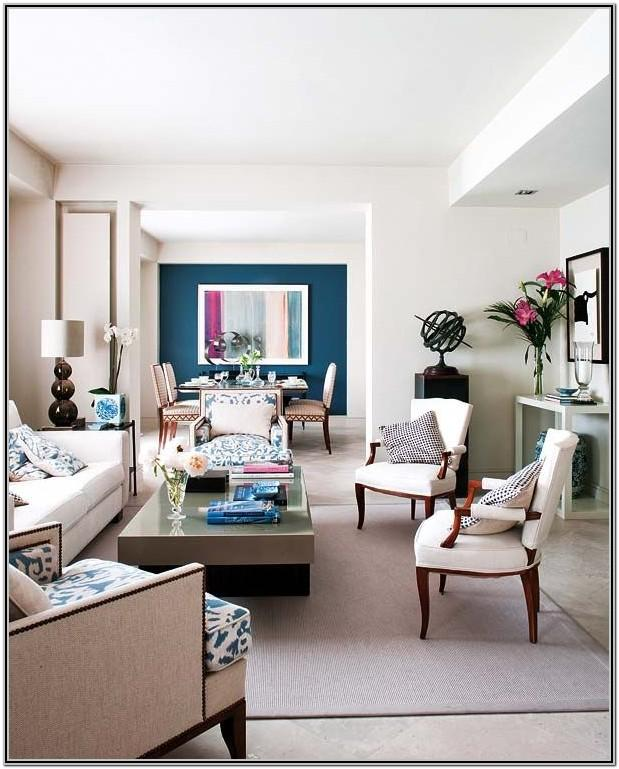 Living Room Decor Teal Accents