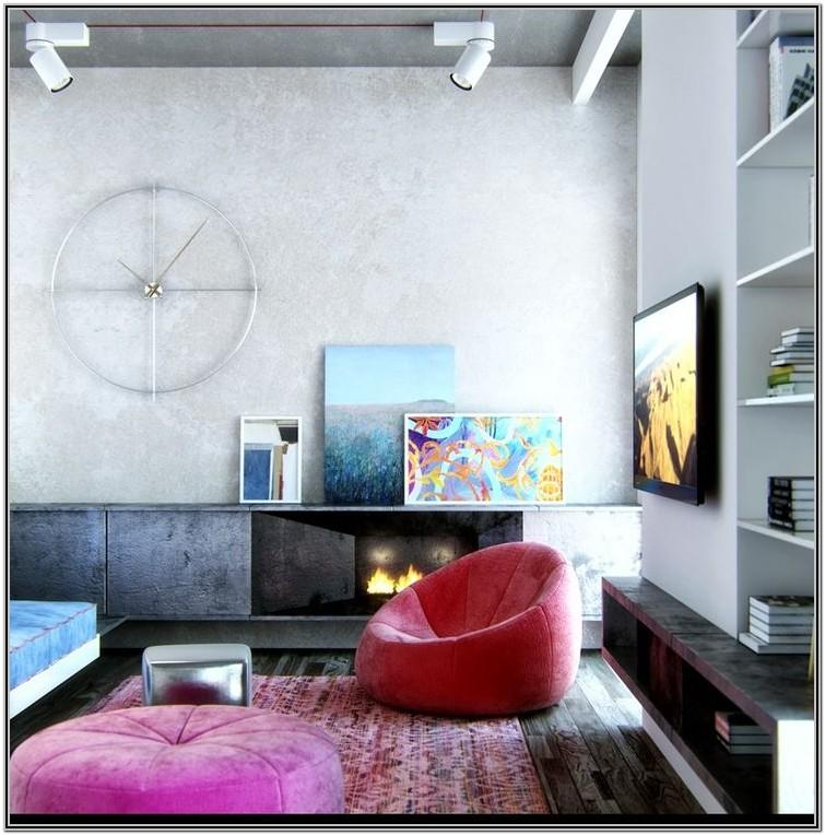 Living Room Decor With Bean Bags
