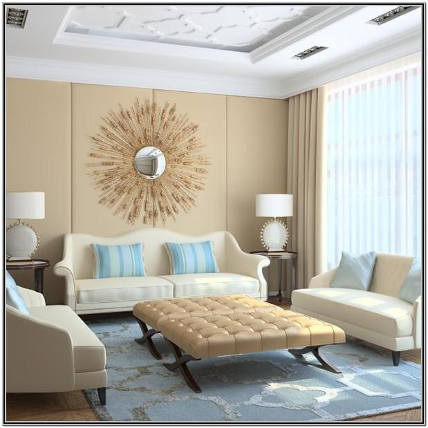 Living Room Decor With Beige Walls