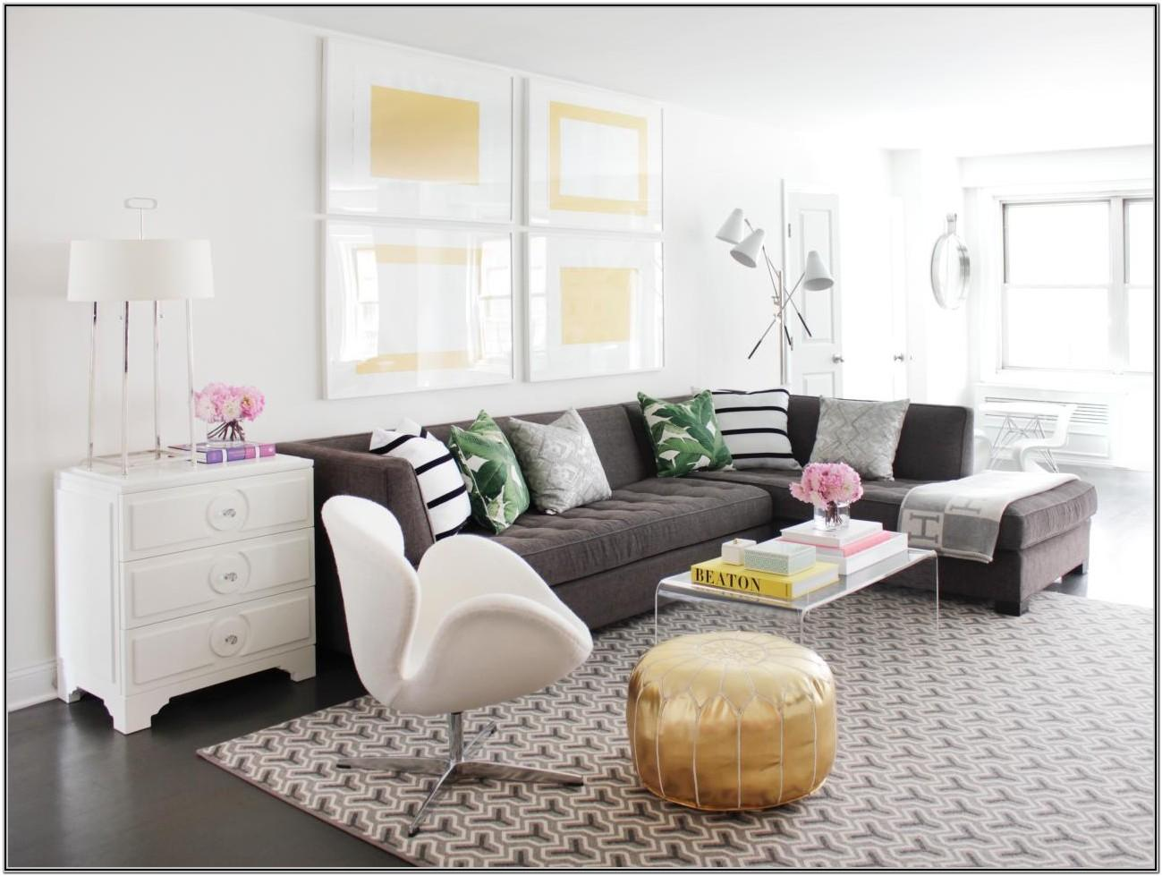 Living Room Decor With Brown Sectional