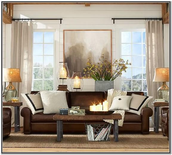Living Room Decor With Dark Brown Furniture