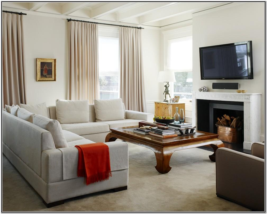 Living Room Decor With Gray And Beige