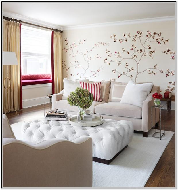 Living Room Decor With Pouf