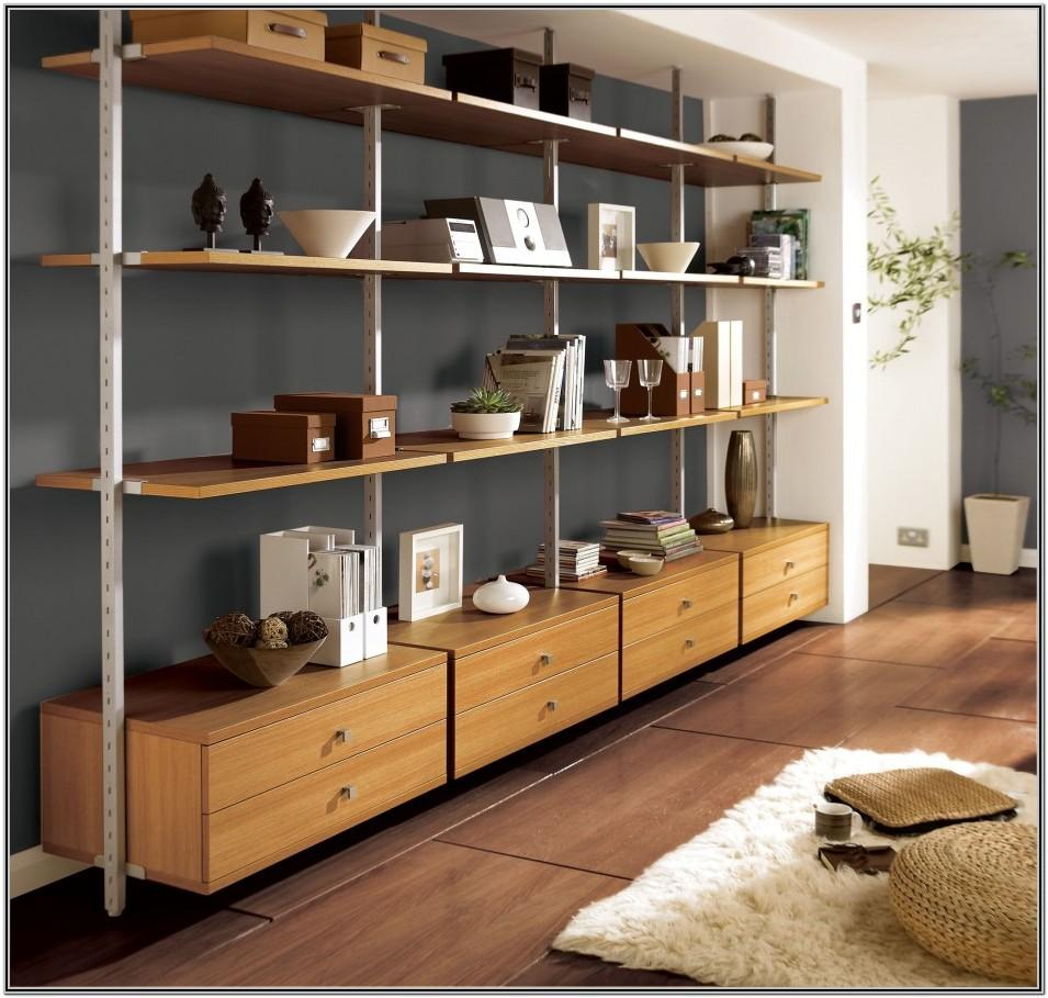 Living Room Decor With Shelving Units