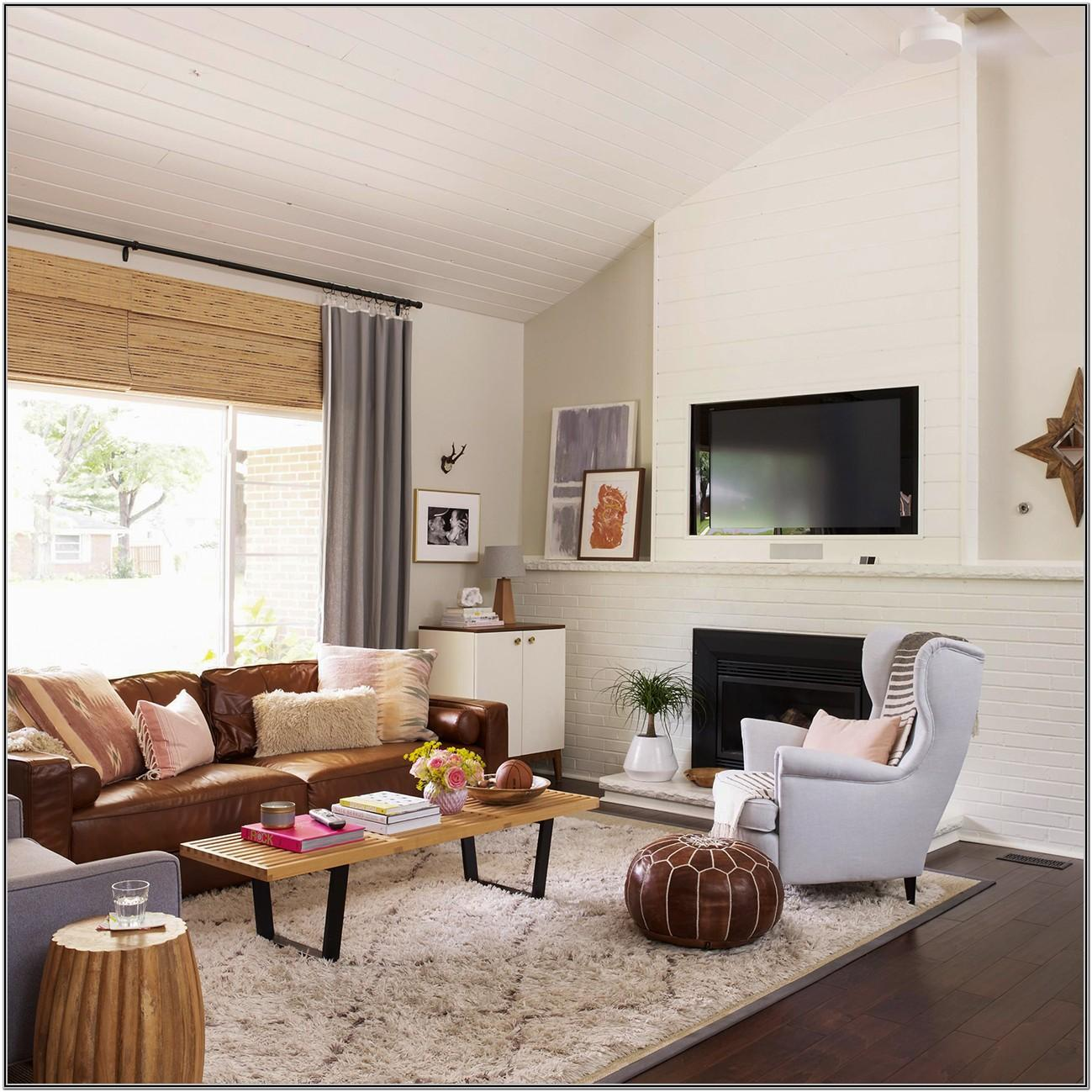 Living Room Decor With Tan Furniture