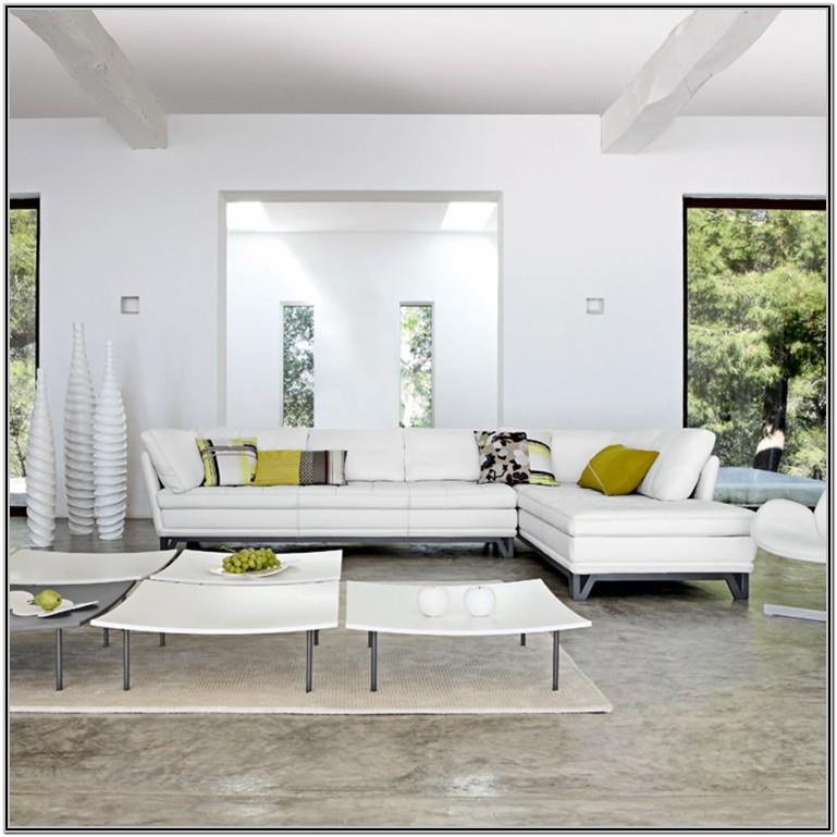 Living Room Decor With White Furniture