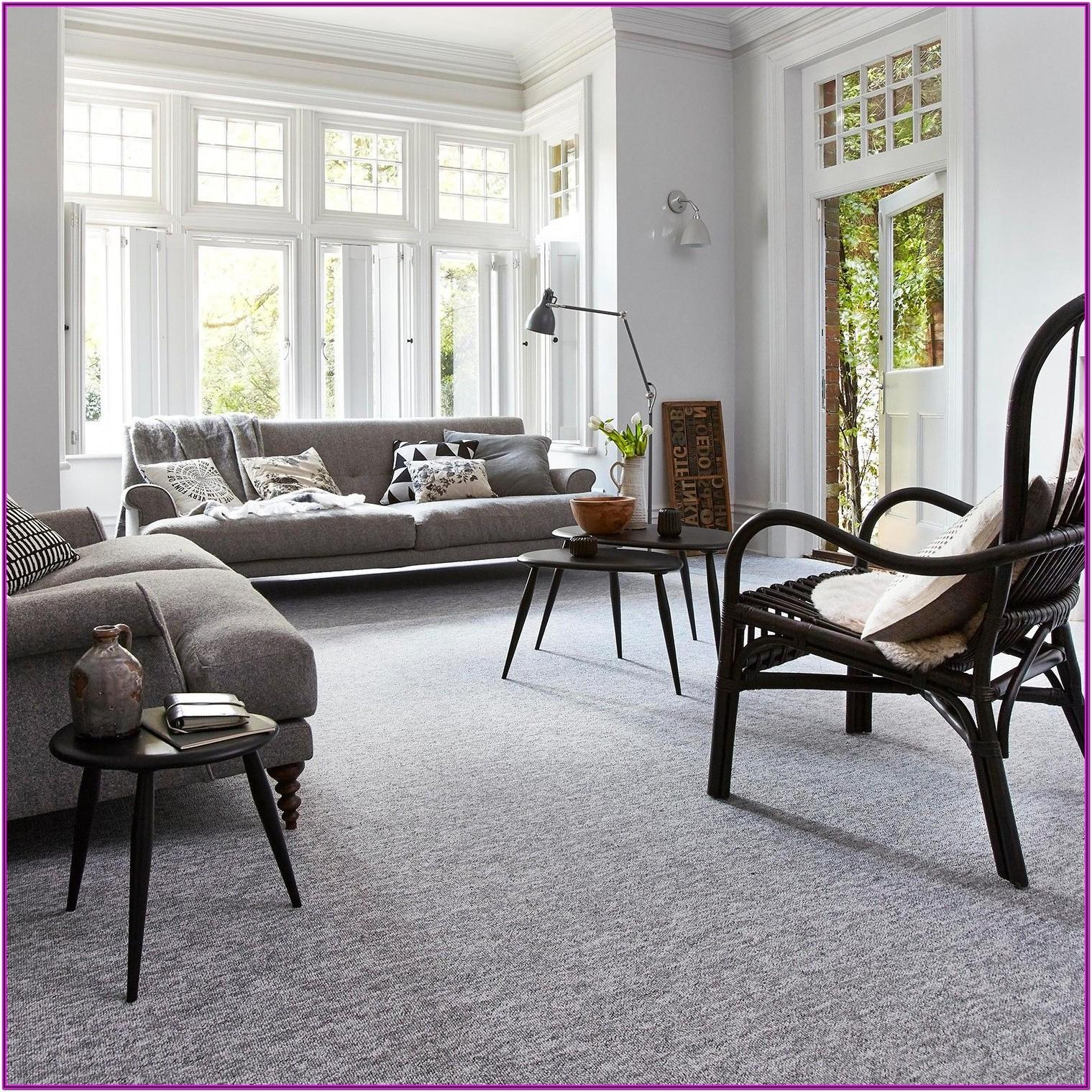 Living Room Decorating With Gray Carpet