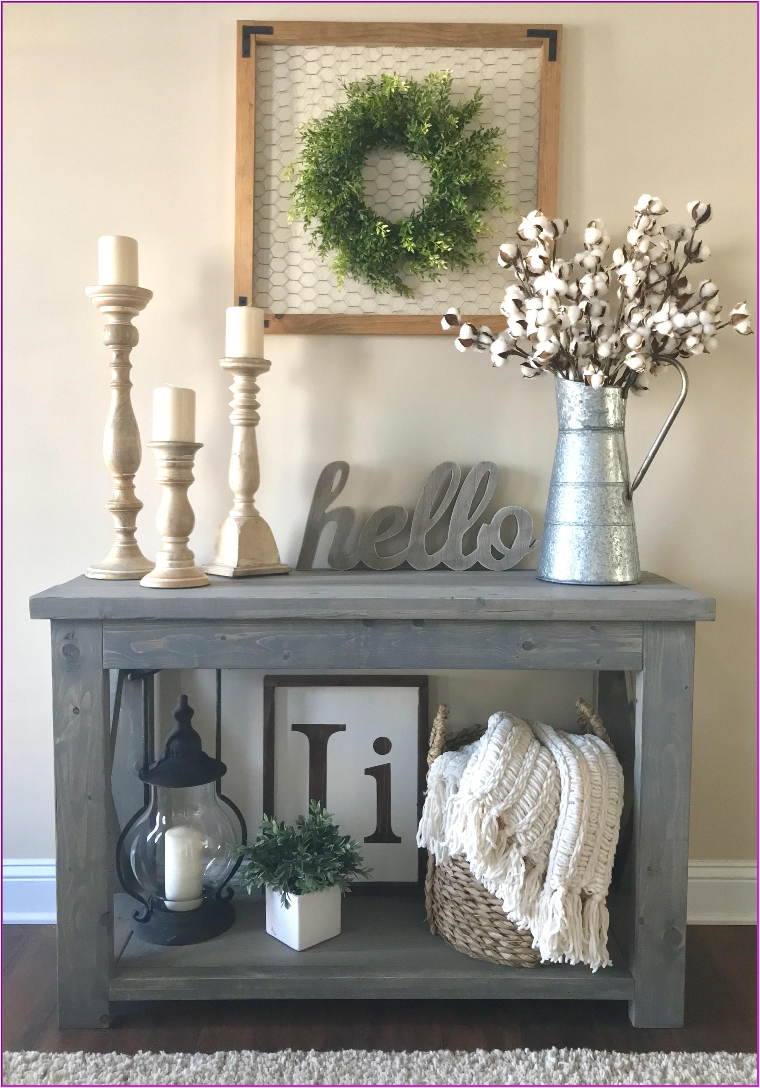 Living Room Entryway Console Table Decor