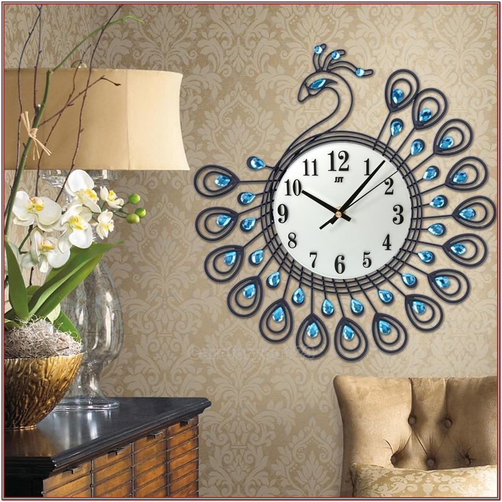 Living Room Wall Decor With Clock