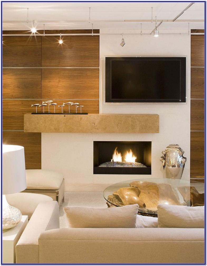 Modern Living Room With Fireplace Decorating Ideas