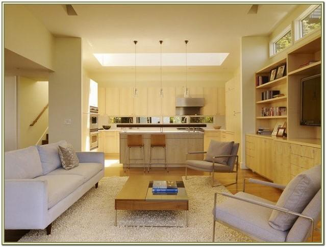 Open Kitchen And Living Room Decor