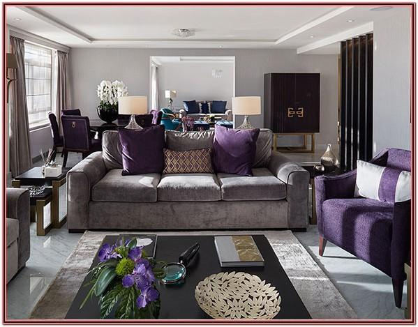 Purple And Grey Living Room Decor