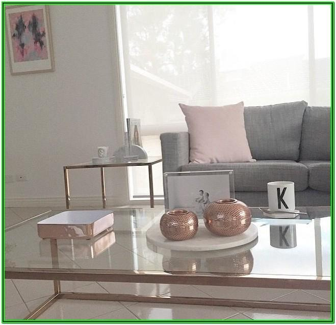 Rose Gold Living Room Decor Ideas