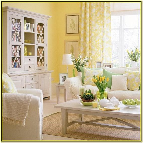 Yellow And Green Living Room Decor