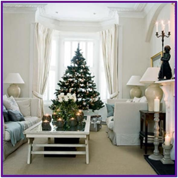 Beautifully Decorated Living Room Modern Christmas Decor