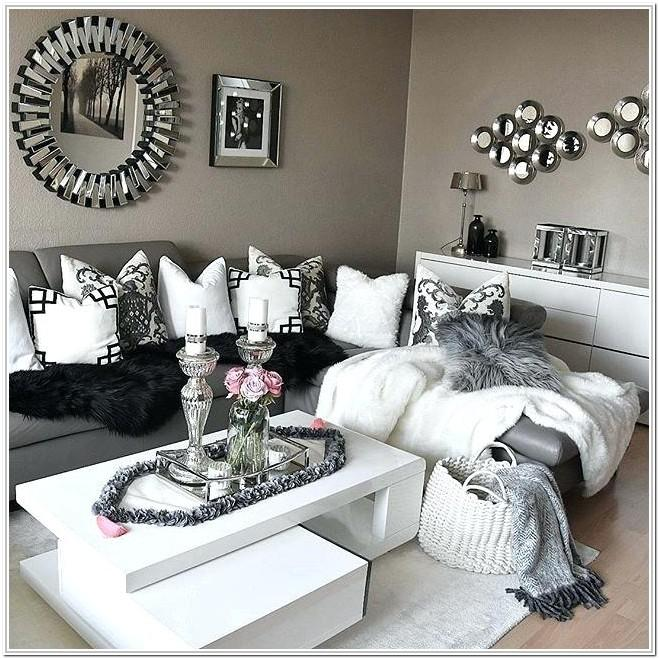 Black Grey And Silver Living Room Ideas