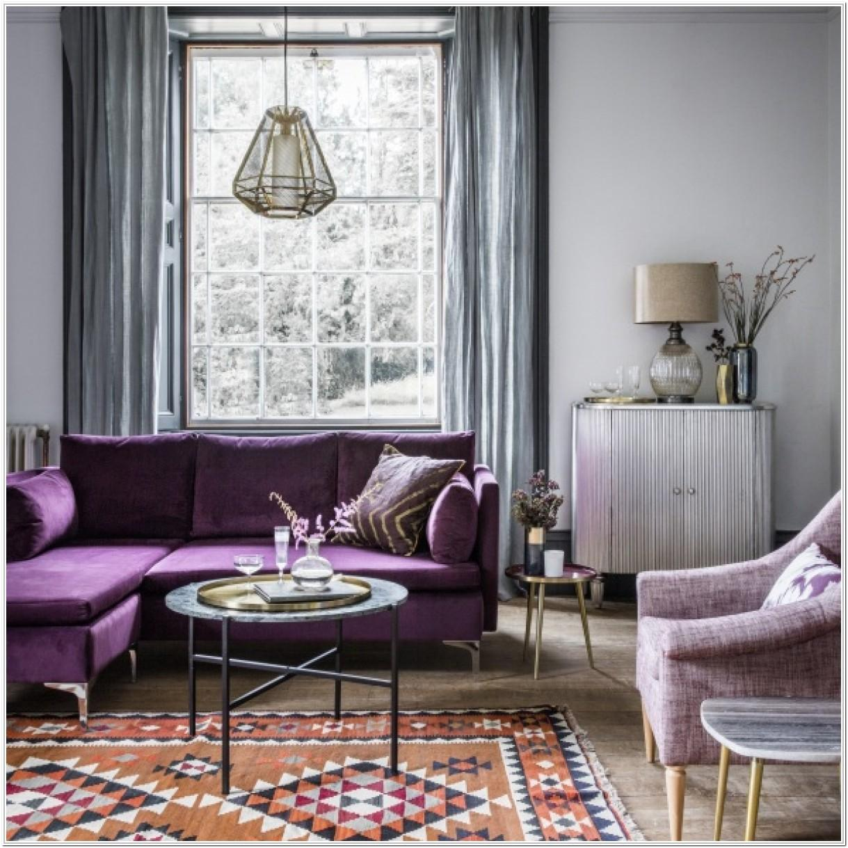 Black Purple And Silver Living Room Ideas