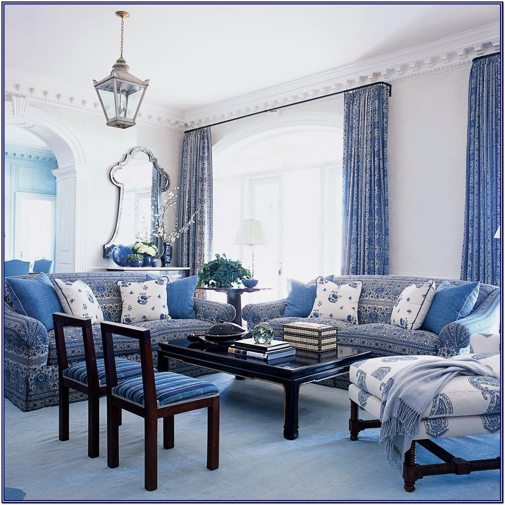 Blue And White Living Room Decor