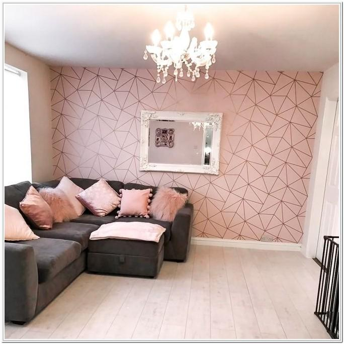 Brown And Rose Gold Living Room Ideas