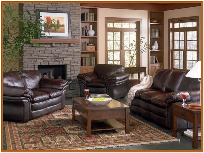 Brown Leather Sofa Decorating Living Room Ideas