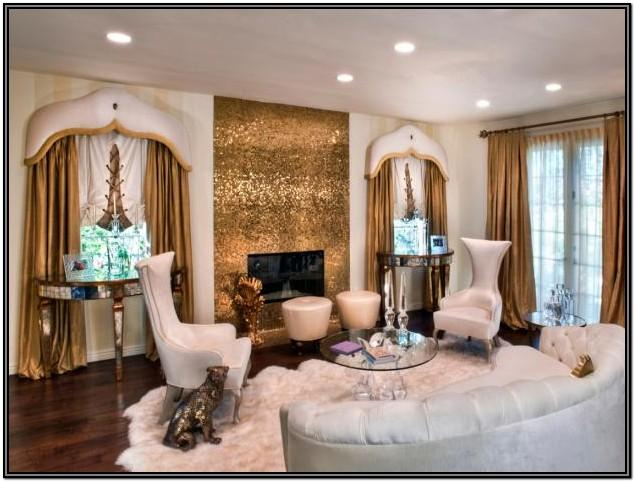 Brown White And Gold Living Room Ideas
